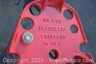 Ridgid Tri Stand #450 - 1/8in to 5in