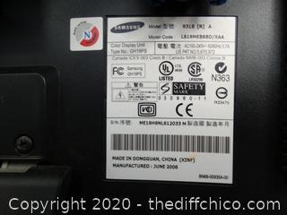 "Samsung 19"" SyncMaster 931B Monitor - Works"