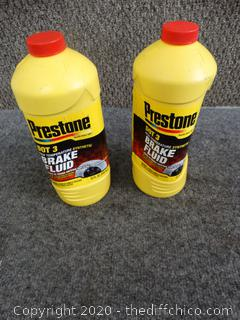 Prestone DOT3 Hi Temp Synthetic Brake Fluid - 1 New, 1 Opened, Barely Used