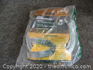 NIB 9 Gauge Galvanized Utility Wire 50'