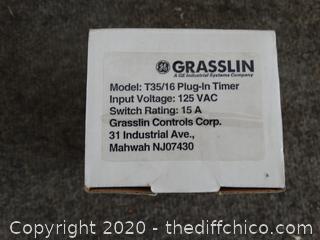NIB Grasslin Plug-In Timer