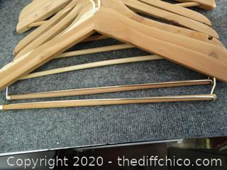 14 Wooden Hangers