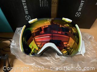 Winterial Snowboard/Ski Goggles - White (J3)