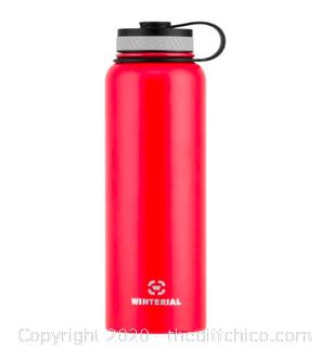 Winterial 40oz Stainless Steel Water Bottle - Red (J12)