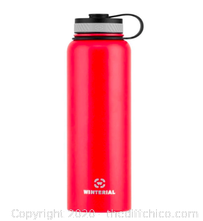 Winterial 40oz Stainless Steel Water Bottle - Red (J13)