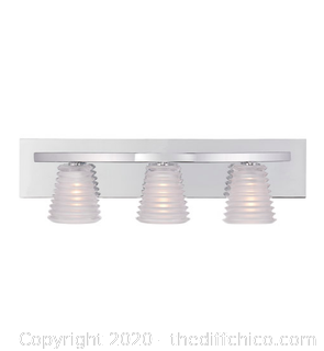 Quoizel PCCI8603C Platinum 3 Light 24 inch Polished Chrome Bath Light (J19)