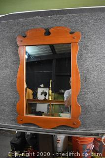 Maple Framed Mirror