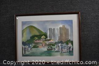 Framed Signed Original Watercolor