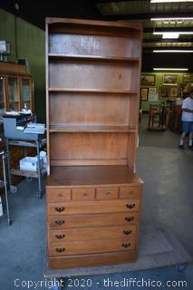 2 Piece Maple Hutch w/Shelves