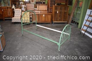 Vintage Headboard, Footboard and Rails