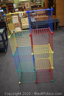 Stack-able Wire Storage Cubes