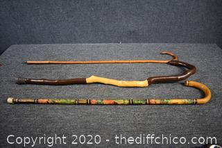3 Walking Sticks