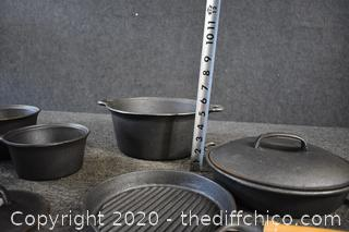 8 Pieces of New Cast Iron Cookware