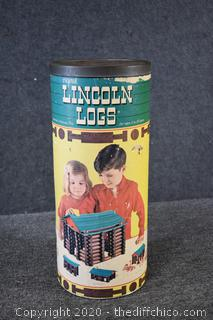 Lincoln Logs with Original Container