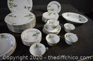 56 Pieces of Sone Bamboo China Dishes