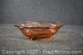 Footed Glass Dish