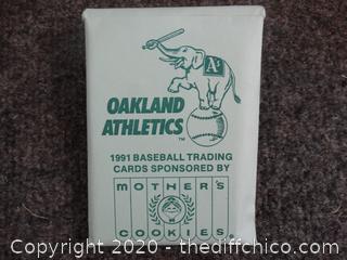 1991 Oakland A's Baseball Cards