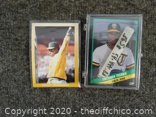1988 AAA - A's Baseball Cards & 5 1989 Baseball Cards