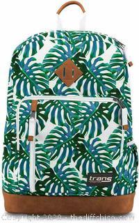 "Trans JanSport 18"" Dakoda Daypack Monstera Falls Travel Backpack Laptop Pocket NEW"