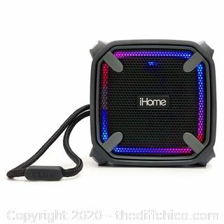 iHome Weather Tough Portable Rechargeable Bluetooth Speaker with Speakerphone