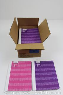 NEW CASEPACK OF 24 Mead Pink/Purple Pixelated Composition Book 70 Sheets Wide Ruled School Office
