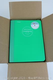 NEW CASEPACK OF 24!! Wide Ruled Tablets Notebooks 70 Pages Each Green Mead Compbook Writing