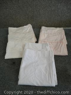 3 sets of pillow Cases 2 long 1 Reg