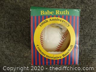 Babe Ruth 100 year Anniversary Baseball NIB