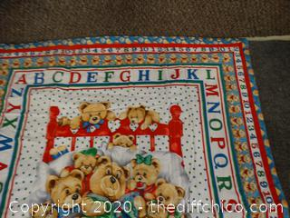 """Kids Small Quilt 40 1/2"""" x31"""""""
