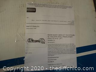 Hellwig Products  Rear Sway Bar KIT  Toyota 05-15  Tacoma 4wd see pics Retail at 300$