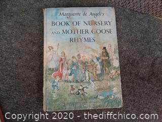 1953-1954 Book Of Nursery And Mother Goose