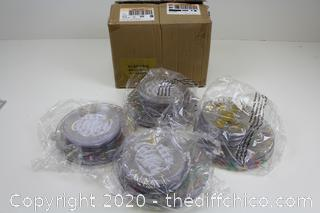 NEW CASEPACK OF 72 HEAVY DUTY PLASTIC PARTY PLATES
