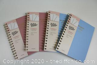 LOT OF 4 - Woman with a Plan, NotebookS NON DATED (BLANK) by Create & Cultivate