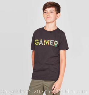Boys Super Mario Bros. Gamer T-Shirt - Medium - Official Nintendo Gear (J12)