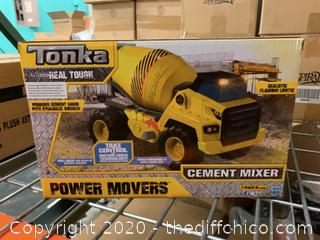 Tonka Power Movers Cement Mixer Toy Truck (J16)