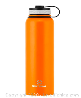 Winterial 40oz Stainless Steel Water Bottle - Orange (J32)