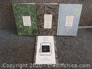 Henry David Thoreau Book Lot