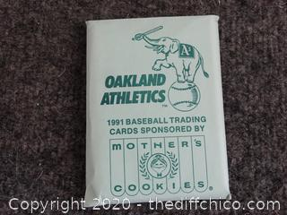 1991 Oakland A's Baseball Cards