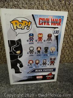 POP! Marvel Civil War Black Panther #130