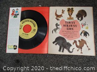 1952 Tawny Scrawny Lion Record & Book