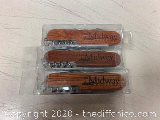 3 Midway Museum Multi Purpose Knives (J3)