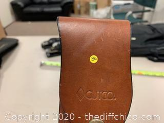 Cutco 1769 Fixed Hunting Knife With Leather Sheath (J36)