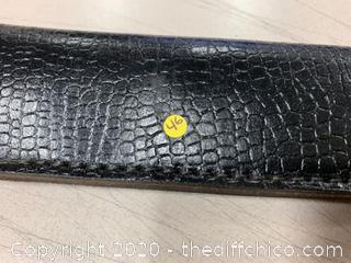Black Leather Knife Sheath (J46)