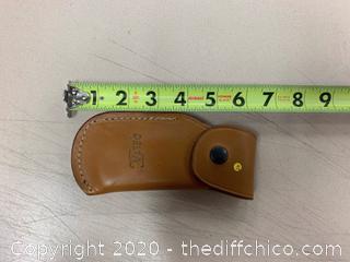 Delta Brown Leather Knife Case (J47)