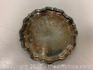 Reed & Barton Chippendale #56 Silver Tip Tray (J126)