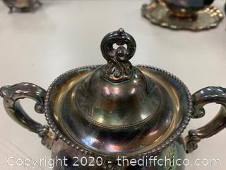 Rockford P. Co Silver Sugar Bowl (J128)