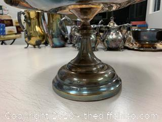 Silver Serving Dish With Handle (J134)