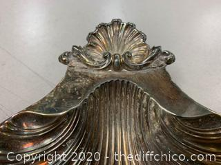 Bell Mark Silver Clam Shell Dish (J135)