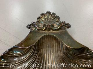 Bell Mark Silver Clam Shell Dish (J136)