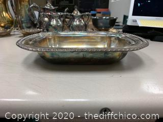 Silver Serving Dish (J138)